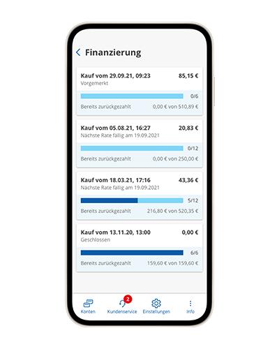 Finanzierte Käufe auf Amazon.de