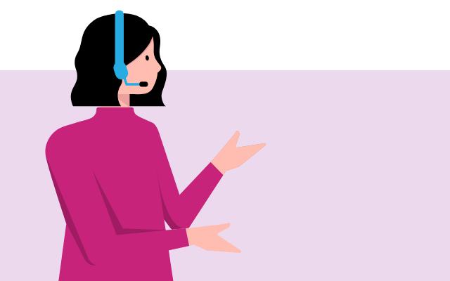 Telefonistin - Telefonische Erreichbarkeit