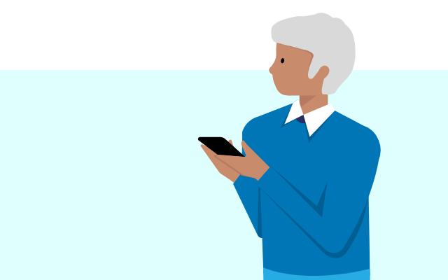 Mann mit einem Smartphone - BGH Urteil