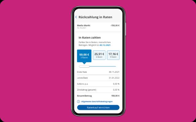Ratenkauf in Barclays App