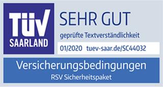 Auszeichung TÜV Saarland – sehr gute Textverständlichkeit